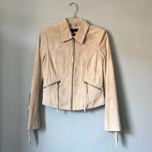 Sam Edelman Luella Fringe Leather Jacket